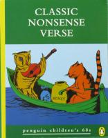 Classic Nonsense Verse Penguin Books
