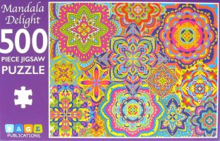 Mandala Delight 500  Piece Jigsaw Puzzle Page Publications